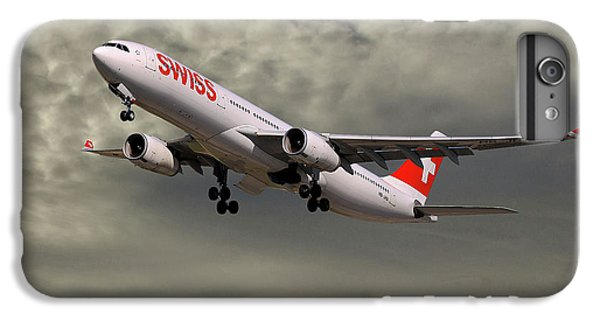 Jet iPhone 6 Plus Case - Swiss Airbus A330-343 by Smart Aviation