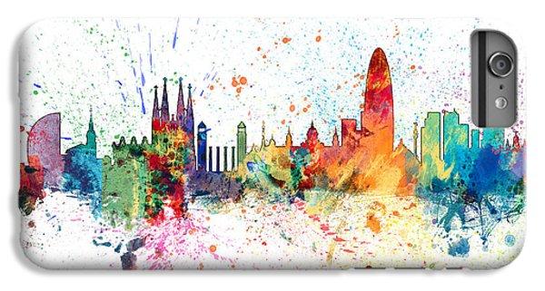 Barcelona Spain Skyline IPhone 6 Plus Case by Michael Tompsett