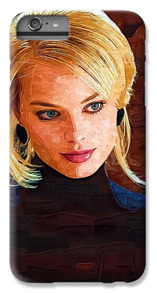 Margot Robbie Painting IPhone 6 Plus Case