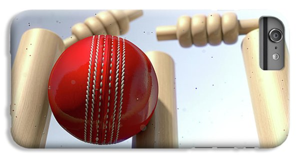 Cricket Ball Hitting Wickets IPhone 6 Plus Case by Allan Swart