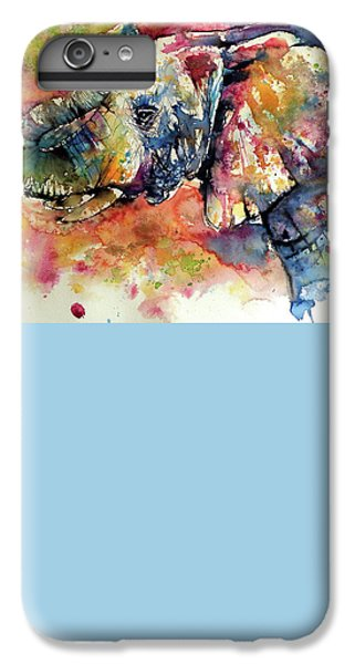 Colorful Elephant IPhone 6 Plus Case by Kovacs Anna Brigitta