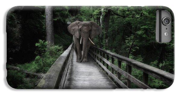 Nature Trail iPhone 6 Plus Case - A Bull On The Boardwalk by Tom Mc Nemar