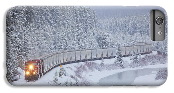 A Canadian Pacific Train Travels Along IPhone 6 Plus Case by Chris Bolin