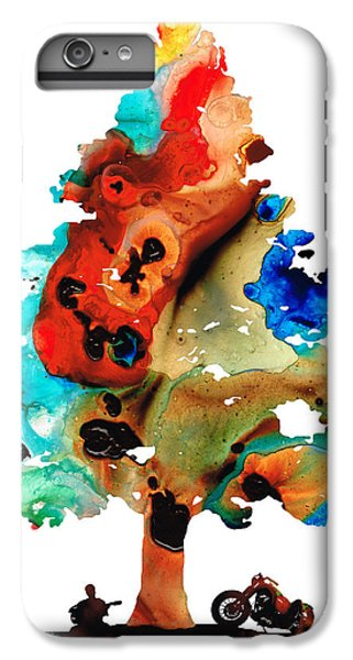 A Certain Kind Of Freedom - Guitar Motorcycle Art Print IPhone 6 Plus Case by Sharon Cummings