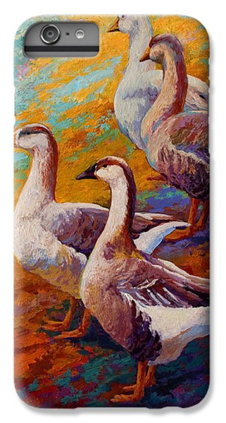 A Gaggle Of Four - Geese IPhone 6 Plus Case by Marion Rose