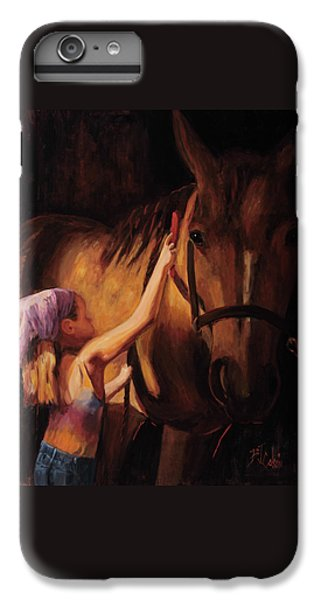Horse iPhone 6 Plus Case - A Girls First Love by Billie Colson
