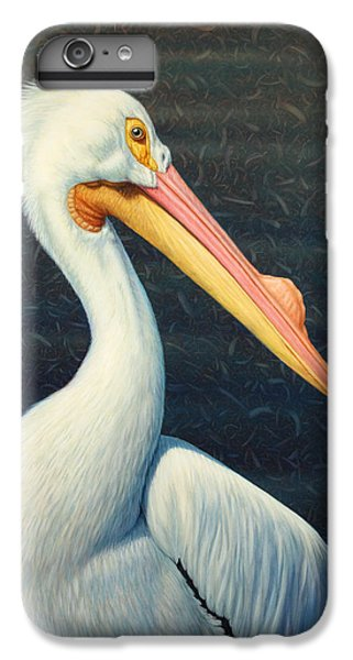 A Great White American Pelican IPhone 6 Plus Case by James W Johnson