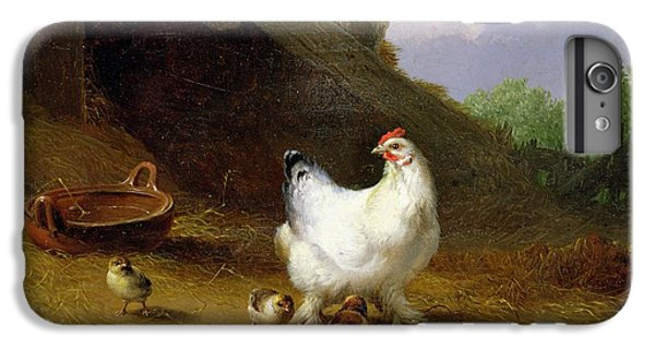 A Hen With Her Chicks IPhone 6 Plus Case by Eugene Joseph Verboeckhoven