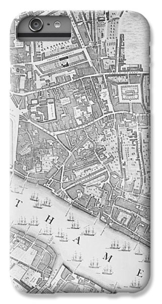 A Map Of The Tower Of London IPhone 6 Plus Case by John Rocque