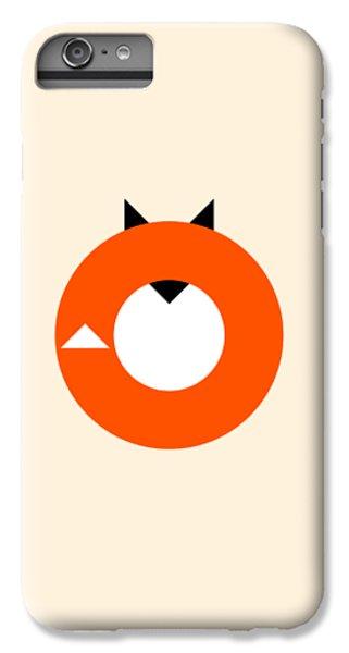 Fox iPhone 6 Plus Case - A Most Minimalist Fox by Nicholas Ely
