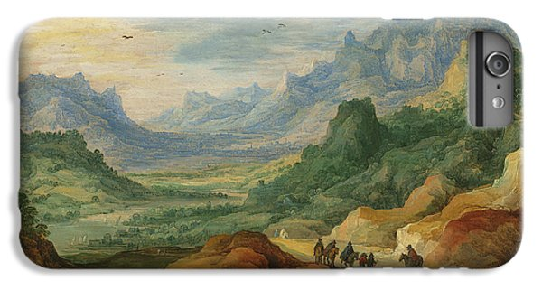 A Mountainous Landscape With Travellers And Herdsmen On A Path IPhone 6 Plus Case by Jan Brueghel and Joos de Momper