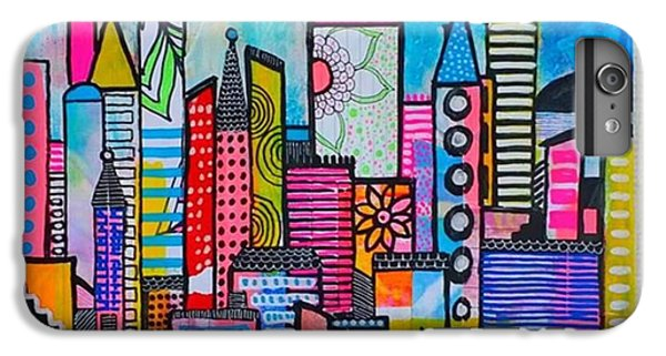 iPhone 6 Plus Case - A New 12 X12 #cityscape #collage by Robin Mead