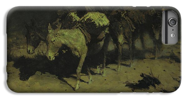 A Pack Train IPhone 6 Plus Case by Frederic Remington