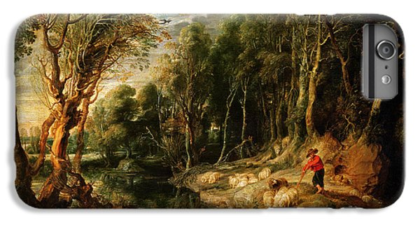 A Shepherd With His Flock In A Woody Landscape IPhone 6 Plus Case by Rubens