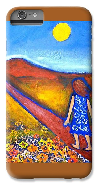 IPhone 6 Plus Case featuring the painting A Sunny Path by Winsome Gunning