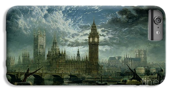 A View Of Westminster Abbey And The Houses Of Parliament IPhone 6 Plus Case by John MacVicar Anderson
