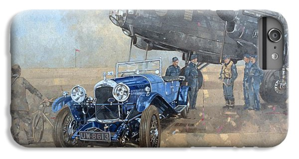 Able Mable And The Blue Lagonda  IPhone 6 Plus Case by Peter Miller