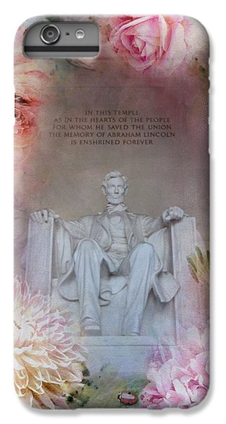 Lincoln Memorial iPhone 6 Plus Case - Abraham Lincoln Memorial At Spring by Marianna Mills