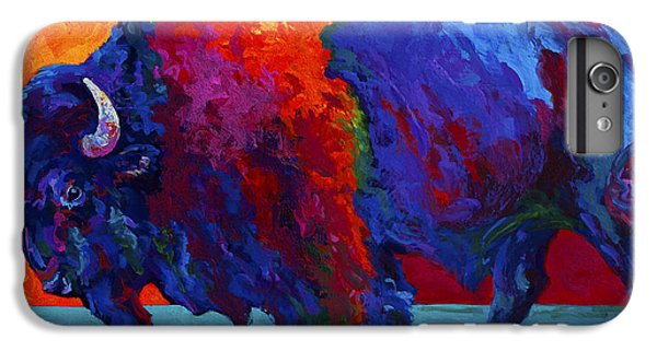 Abstract Bison IPhone 6 Plus Case by Marion Rose