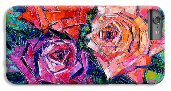 Rose iPhone 6 Plus Case - Abstract Bouquet Of Roses by Mona Edulesco