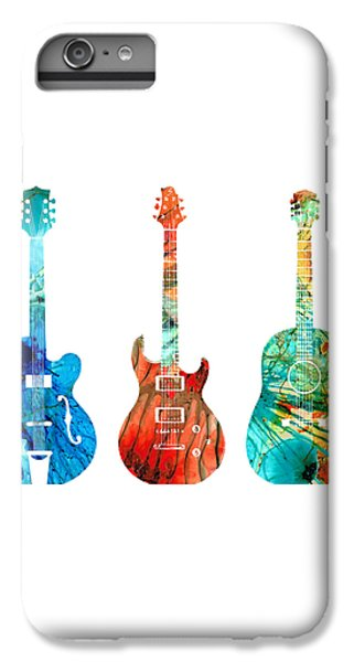 Abstract Guitars By Sharon Cummings IPhone 6 Plus Case by Sharon Cummings
