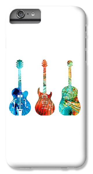 Music iPhone 6 Plus Case - Abstract Guitars By Sharon Cummings by Sharon Cummings