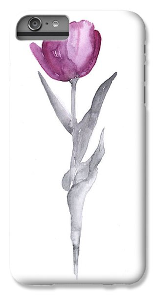 Abstract Tulip Flower Watercolor Painting IPhone 6 Plus Case by Joanna Szmerdt