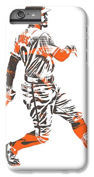 Oriole iPhone 6 Plus Case - Adam Jones Baltimore Orioles Pixel Art 11 by Joe Hamilton