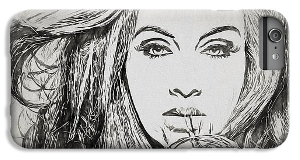 Adele Charcoal Sketch IPhone 6 Plus Case