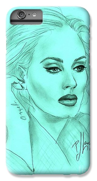 Adele IPhone 6 Plus Case by P J Lewis