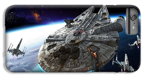 Space Ships iPhone 6 Plus Case - Afterburn by Kurt Miller