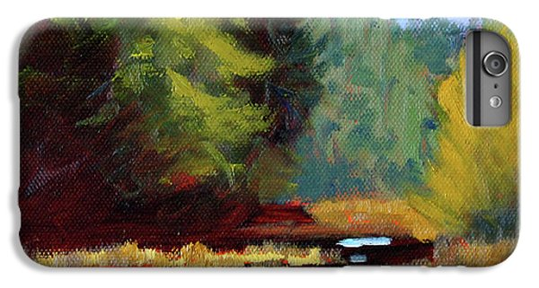 IPhone 6 Plus Case featuring the painting Afternoon On The River by Nancy Merkle