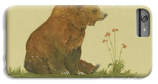 Alaskan Grizzly Bear IPhone 6 Plus Case by Juan Bosco