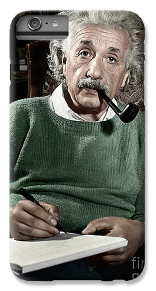 Portraits iPhone 6 Plus Case - Albert Einstein - To License For Professional Use Visit Granger.com by Granger