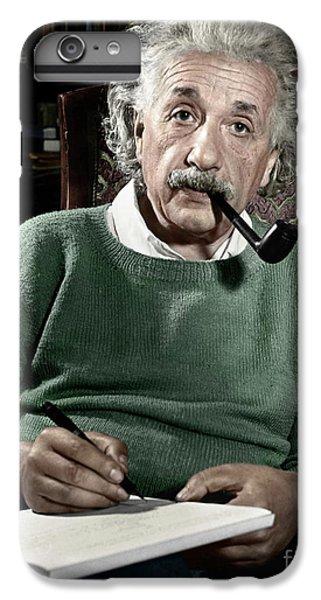 Portraits iPhone 6 Plus Case - Albert Einstein by Granger