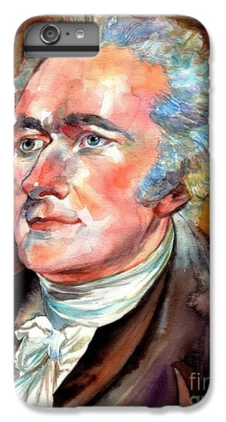 Thomas Jefferson iPhone 6 Plus Case - Alexander Hamilton Watercolor by Suzann's Art