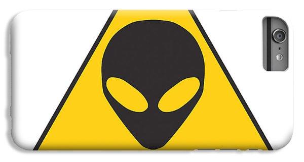 Alien Grey Graphic IPhone 6 Plus Case by Pixel Chimp