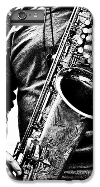Saxophone iPhone 6 Plus Case - All Blues Man With Jazz On The Side by Bob Orsillo