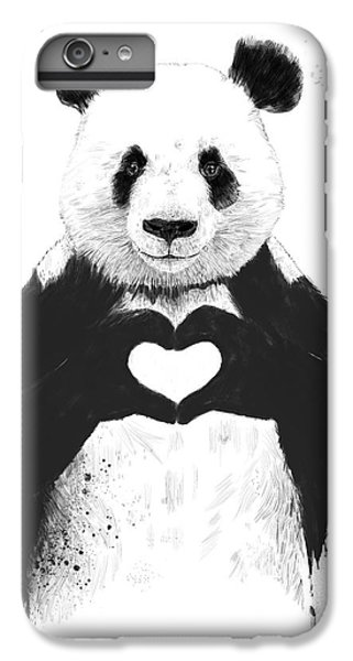 White iPhone 6 Plus Case - All You Need Is Love by Balazs Solti