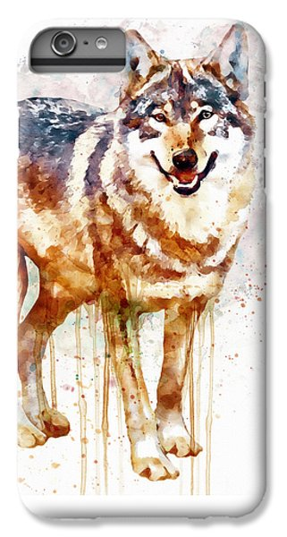 Alpha Wolf IPhone 6 Plus Case by Marian Voicu