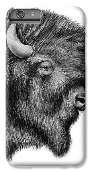 Buffalo iPhone 6 Plus Case - American Bison by Greg Joens