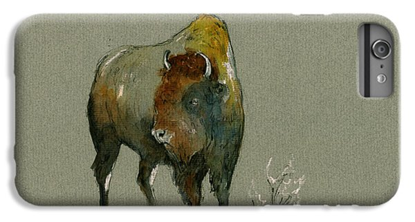 Mammals iPhone 6 Plus Case - American Buffalo by Juan  Bosco