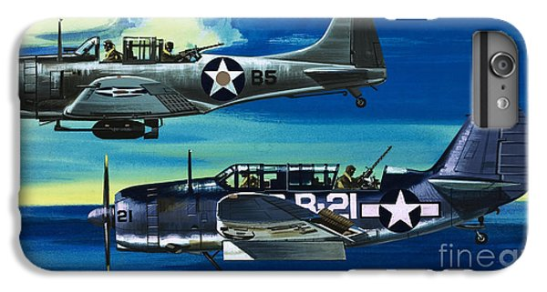 American Ww2 Planes Douglas Sbd1 Dauntless And Curtiss Sb2c1 Helldiver IPhone 6 Plus Case by Wilf Hardy