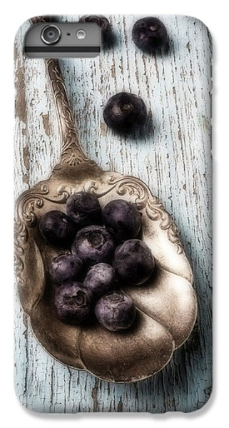 Antique Spoon And Buleberries IPhone 6 Plus Case by Garry Gay