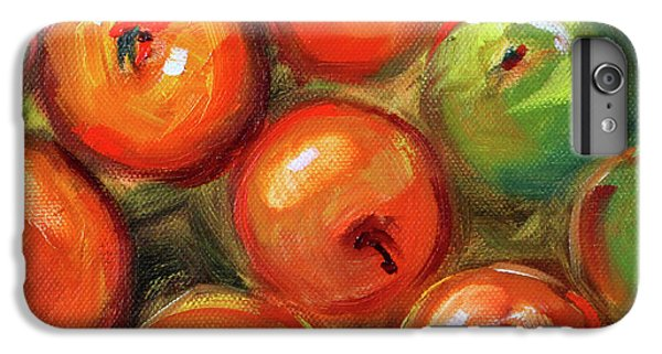 IPhone 6 Plus Case featuring the painting Apple Barrel Still Life by Nancy Merkle