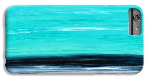 Water Ocean iPhone 6 Plus Case - Aqua Sky - Bold Abstract Landscape Art by Sharon Cummings