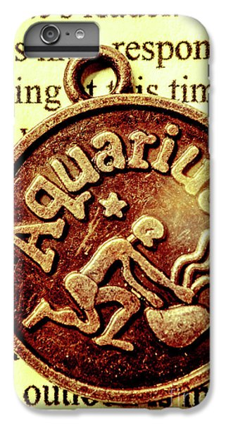 IPhone 6 Plus Case featuring the photograph Aquarius Zodiac Sign by Jorgo Photography - Wall Art Gallery