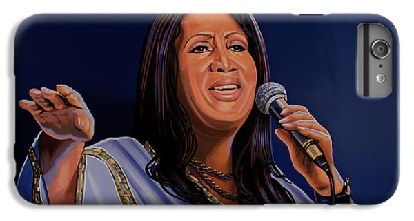 Harlem iPhone 6 Plus Case - Aretha Franklin Painting by Paul Meijering