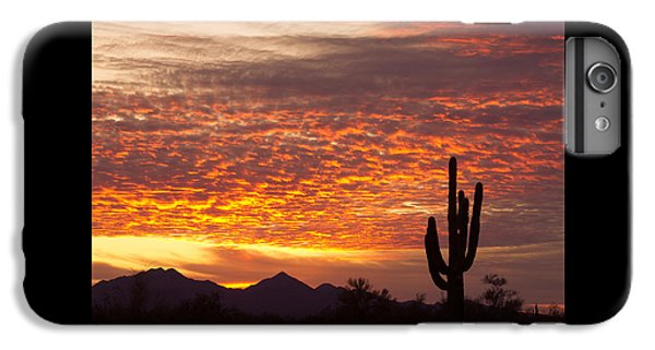 Arizona November Sunrise With Saguaro   IPhone 6 Plus Case