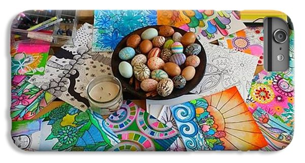 iPhone 6 Plus Case - #art #artsupplies And #fresheggs..ready by Robin Mead